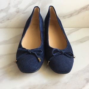 ANDRE ASSOUS Navy Ballet Style Professional Heel